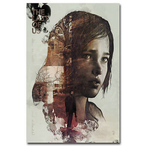 The-Last-of-Us-Poster-Art-Silk-Fabric-Game-Poster-Ellie-Joe-Wall-Decor-13x20inch