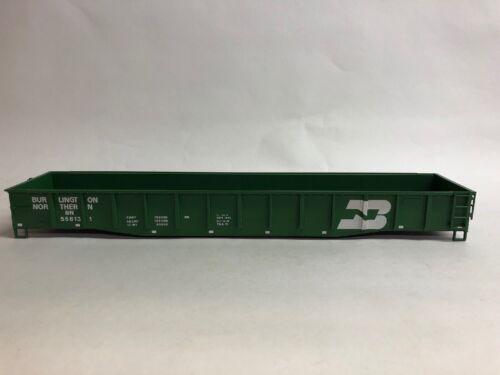 """Atlas O Tm 52/' 6/"""" Gôndola-Faltando caminhões e acopladores-Burlington Northern Bn"""
