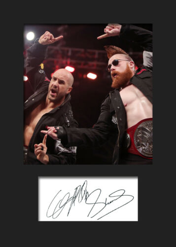THE BAR #2 FREE DELIVERY WWE Signed Reprint Photo A5 Mounted Print