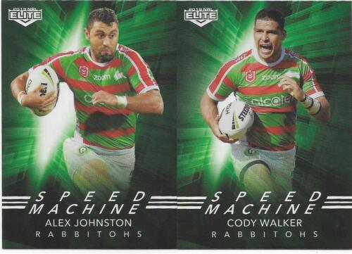 JOHNSTON SM 23 /& 24 WALKER Rabbitohs 2019 TLA Elite Nrl Speed Machine