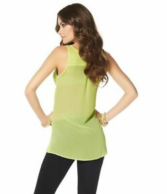 100% Vero Stretch Top Lime Di Laura Scott Tg. 158-mostra Il Titolo Originale Ultima Tecnologia