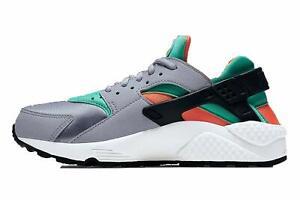 Size-8-Nike-Women-Air-Huarache-Run-Shoes-634835-011-Grey-Green-Orange-Black