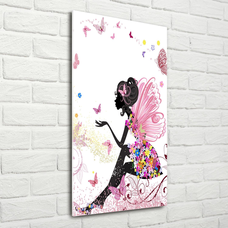 Wand-Bild Kunstdruck aus Acryl-Glas Hochformat 70x140 Gute Fee