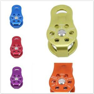 Aluminum Fixed Side Pulley Rock Climbing Caving Rigging Rescue Gear Equipment Z