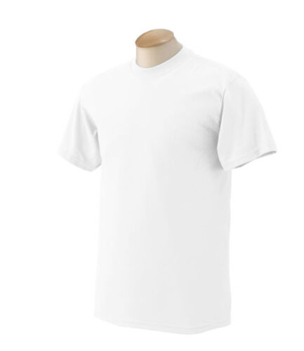 New Men/'s Gem Rock Solid White Crew Neck T-Shirt Size 6X-Large Brand New!
