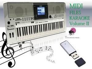 MIDI File Karaoke USB stick for PSR S700  NEW Volume 2