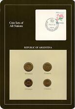 COIN SETS OF ALL NATIONS. ARGENTINA 1987. SC BU