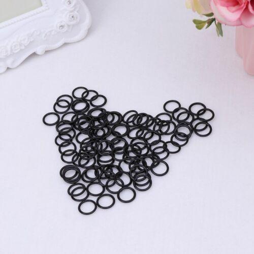 100pcs Metal Bra Strap Adjuster Slider O Ring Lingerie Supplies DIY Sewing Craft