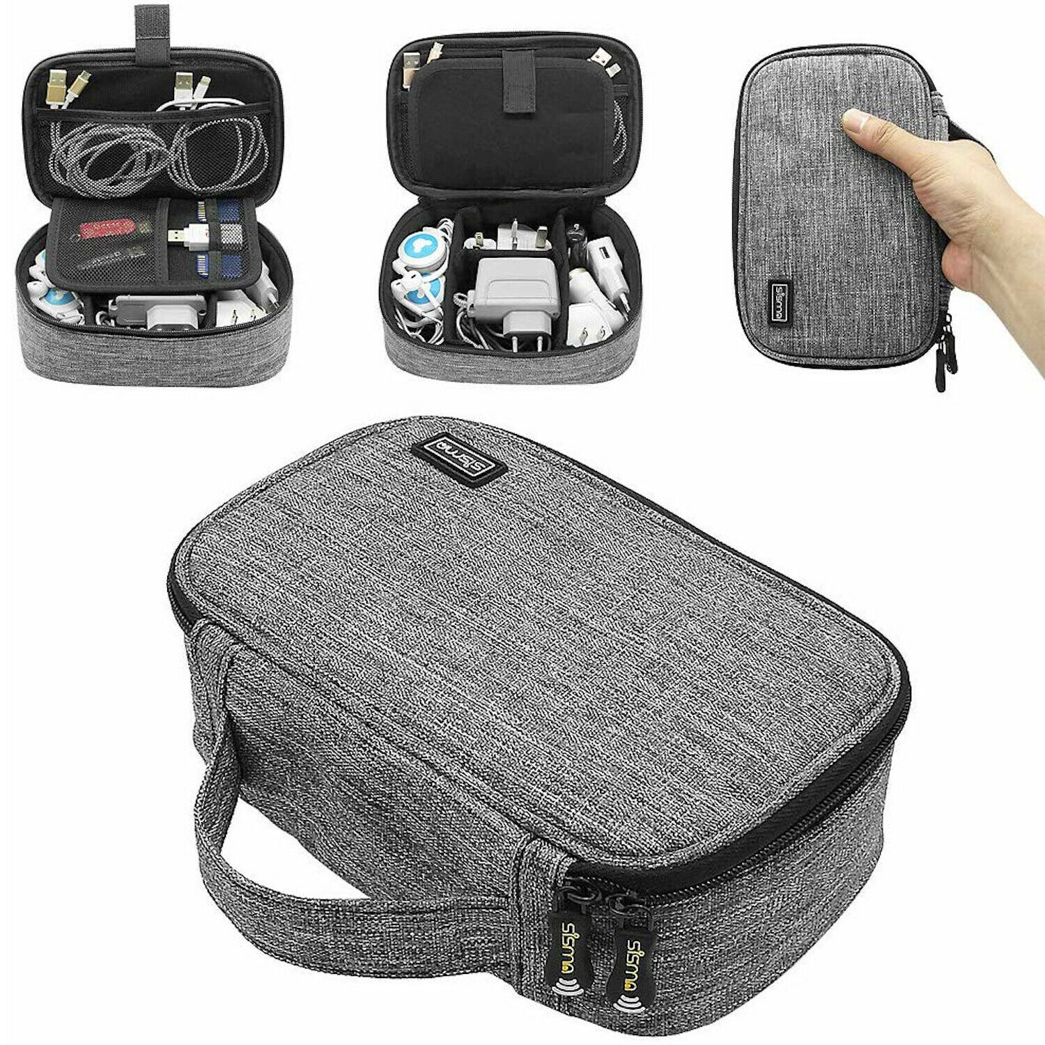Travel Electronics Organizer Case Bag Cable Charger Accessories Carryi... - s l1600