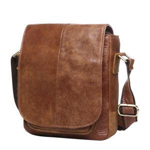 Cowhide-Men-039-s-Small-Bag-Leather-Shoulder-Handbag-Briefcase-Casual-Bags