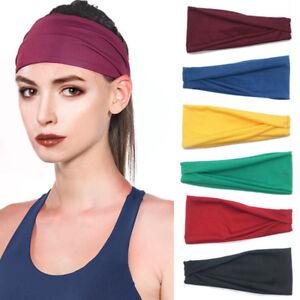 d029e37b8dc16 Details about New Women Men Wide Sports Yoga Fitness Headband Stretch  Elastic Hair Band Turban