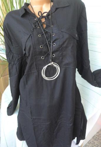 NEU 910 42-58 schwarz mit Schnürung Sheego Long Bluse Shirt Gr