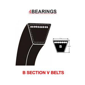 B Section V Belt Sizes B22v B82 V Belt 17mm X 11mm Ebay