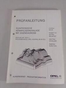 Manual de Taller Instrucciones de Inspección Opel Corsa A, Kadett E,