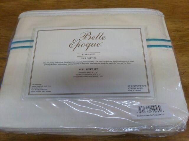 Belle Epoque Stephanie Sheet Set Turquoise Queen