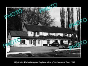 OLD-LARGE-HISTORIC-PHOTO-WIGHTWICK-WOLVERHAMPTON-ENGLAND-THE-MERMAID-INN-c1960