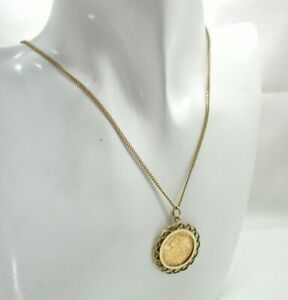 1913-Half-Sovereign-Coin-Pendant-And-Chain