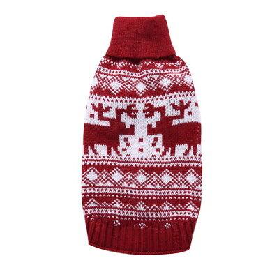 Animaux Sweater Noël Elk Belle chiot Chat Chien Tricotée Manteau de Vêtements