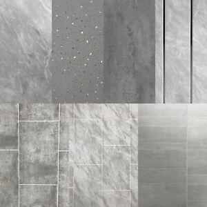Grey Panels Tile Effect Cladding Sparkle Bathroom Shower Wall Panels Pvc Ebay