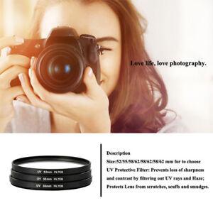 UV-Ultra-Violet-Filter-Lens-Protector-For-Camera-Canon-DSLR-SLR-DC-DV-52-58-mm