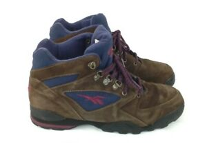 b88b9226ab4c3 Details about Reebok, Vintage, Women's Hiking Boots, Size: 10, Color:  Brown, Navy Blue.