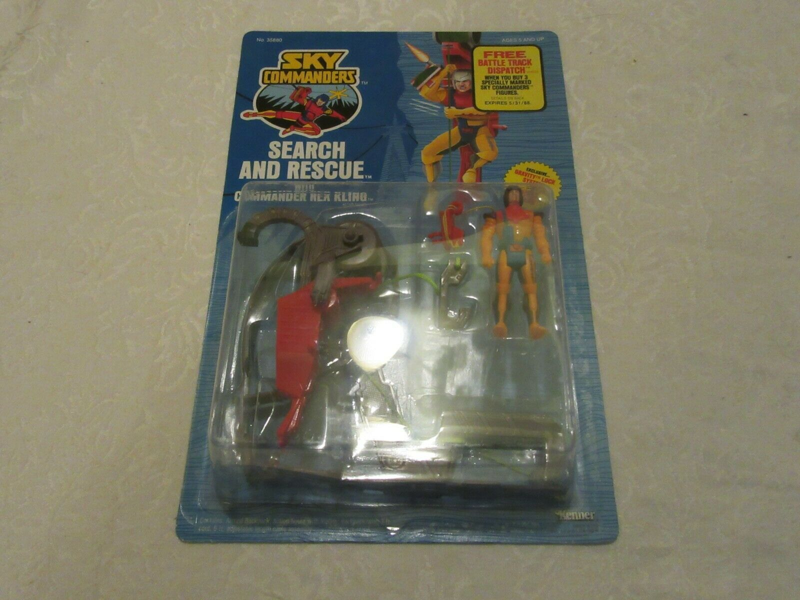Kenner Sky Commanders Search & Rescue Commander Rex Kling 1987 Action Figure