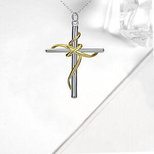 Men women 925 sterling silver plated cross crucifix pendant gift la imagen se est cargando hombres mujeres cruz chapado en plata esterlina 925 aloadofball Choice Image