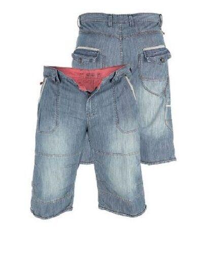 Mens Quality Split Star Denim Cargo Shorts Lismore