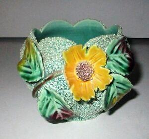 Mid-Century-3D-Pottery-Flower-Pot-Confetti-Cactus-Vase-Rose-Bowl-Kitsch-VTG