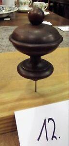 Nußbaum 1880 Antik Türmchen Drechselei Realistisch Holz Zierteil 12 Durchblutung GläTten Und Schmerzen Stoppen Nr
