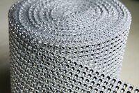 Rhinestone Mesh Roll Silver 4.75x10 Yards Wrap Mesh Venue Decoration Decoracion