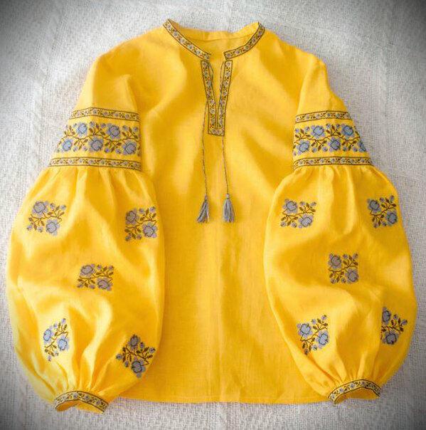 ukrainian boho embroidered blouse vyshyvanka ethnic shirt Vita Kin style