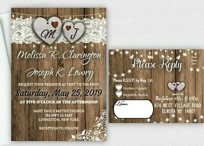Wedding Invitations Country Theme Heart