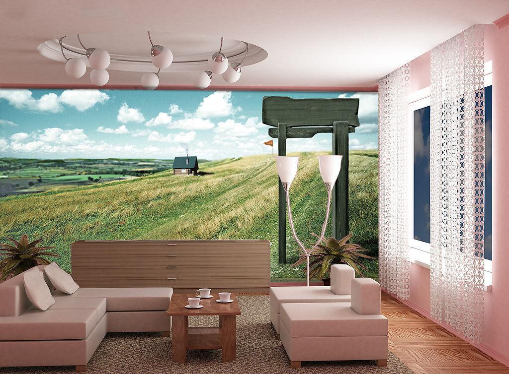 3D Ein schönes feld. 332 Fototapeten Wandbild Fototapete BildTapete Familie DE