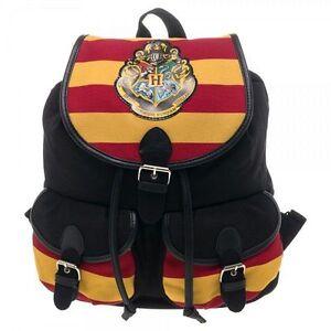 Image Is Loading Harry Potter Backpack Hogwarts School Bag Crest Stripe