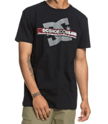 DC SHOES MENS T SHIRT.DESTROY BLACK SHORT SLEEVE COTTON SKATE TOP TEE 8W 39 KVJO