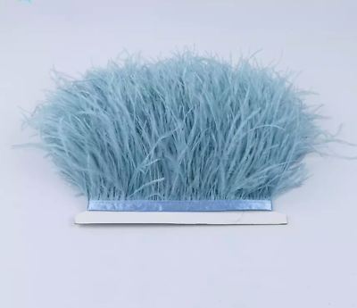 Palest Blue Rooster Feather Fringe Ribbon Trim Price for 30cm DIY Craft Sewing