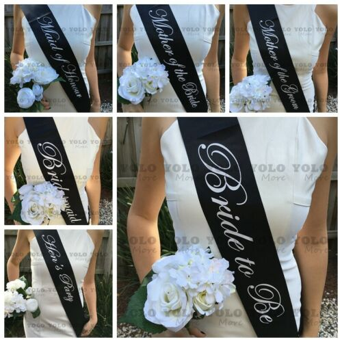 All Colour Hens Sashes Bride To Be Sash Do Party Wedding Bridal Shower AUS