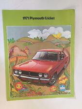 Vintage 1971 Plymouth Cricket Brochure Chrysler Automobile Car Features Colors