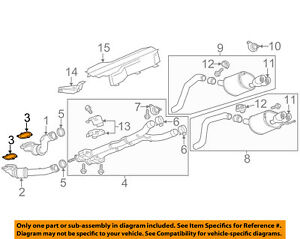 Genuine GM Converter /& Pipe Gasket 15272179