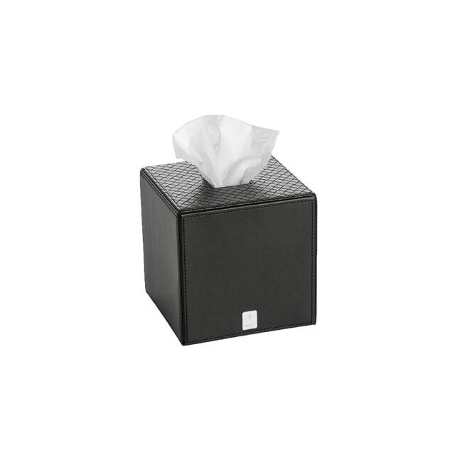 Bathline Papiertuchbox quadratisch Lederoptik weiß Bad Accessoires JOOP