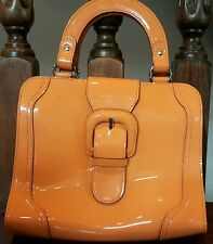 Patent Leather Orange MARNI handbag purse with buckle