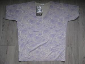 Bompard violet 12 Eric Top blanc 100pur Pull cachemire 14 Bnwt BrCdxoe