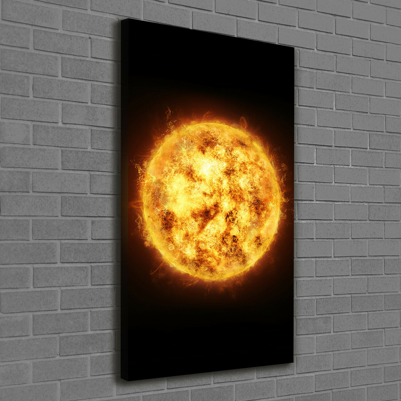 Leinwand-Bild Kunstdruck Hochformat 60x120 Bilder Sonne