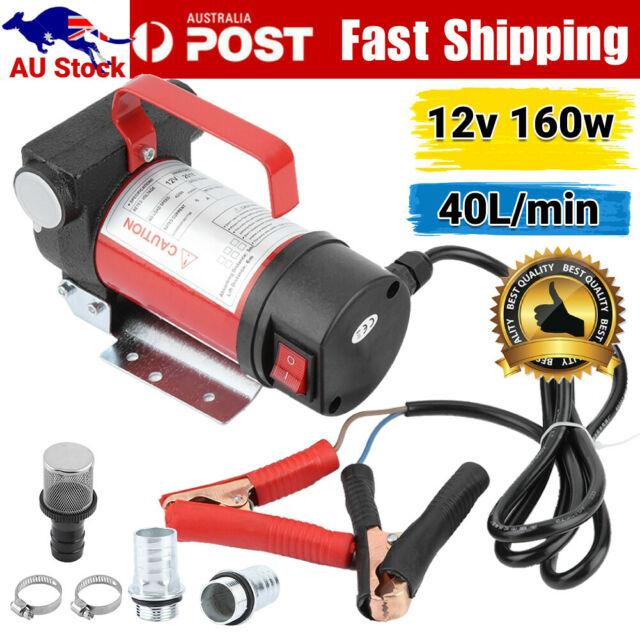 12V Electric Car Oil Diesel Fuel Bowser Transfer Pump Oil Petrol 40L/min