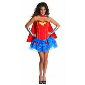 corseted tutu wonder woman adult fancy dress corset