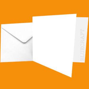 "100 x Ivory Card Blank /& Envelope Sets 155 x 155mm 6/"" Square"