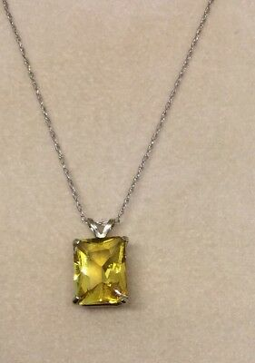 9Ct Water Drop Ruby Diamond Citrine Necklace In 14Carat Gold Over Sterling