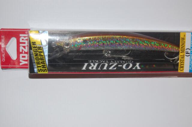 Yo-Zuri Crystal Minnow Freshwater R1325 C4 Black Silver 110mm Lure