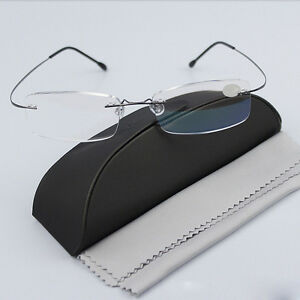 0979c192e3 Image is loading Men-039-s-Rimless-Glasses-Rx-Optical-Eyeglasses-